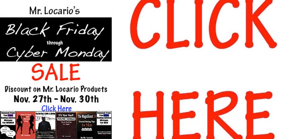 Mr. Locario's Black Friday/Cyber Monday Sale